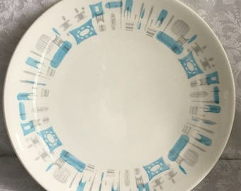 Mid Century Blue Heaven Dinner Plate