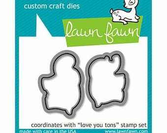 Lawn Fawn Photopolymer Clear Die Set - Love You Tons