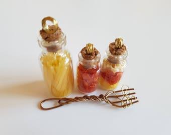 Spagetti set, pastafarian,spaghetti monster, pendant