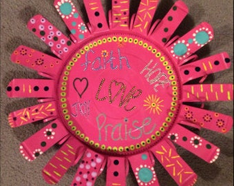 24 inch Pink Inspirational Wall Flower