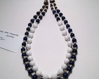 Lapis and Marble Necklace