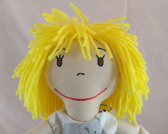 Cloth Rag Doll, Doll for Gift, Personalized Doll, Embroidered Dolls, Birthday/Baby Shower gift, Handmade Doll, Soft Dolls,  First Baby Doll