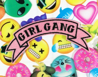 Girl Gang iron-on Patch