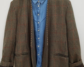 Vintage - houndstooth jacket - 40(FR) 12(UK) 8(US)