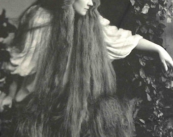 Rudolf Eickemeyer Photo, Opera singer Mary Garden with very long hair