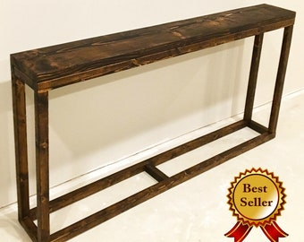 Long Console Table / Narrow Console Table / Long Entryway Table / Behind Couch Table / Behind Sofa Table / Rustic / Industrial