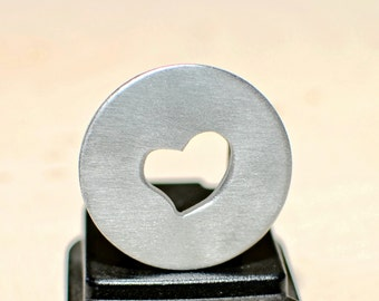 Golf marker with heart cut out space for a personalized message - GM710