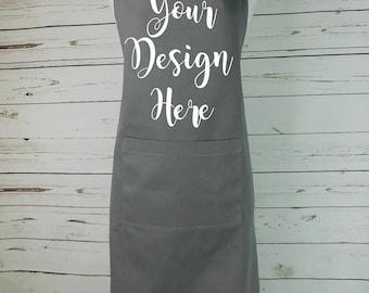 Custom Apron Custom Kitchen Apron with Pocket apron custom color apron personalized apron business logo apron logo apron gift name apron