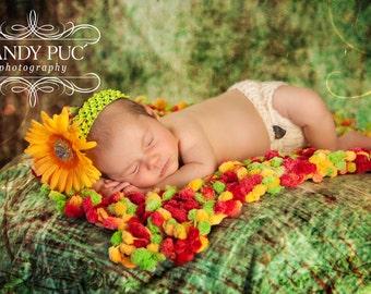 Newborn Baby Prop Popcorn Baby Photo Blanket Newborn Prop Rug
