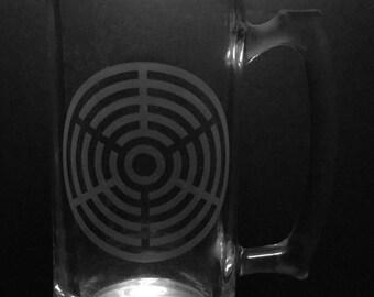 Crop Circle Design 25 Ounce Beer Mug