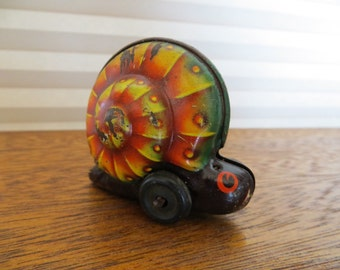 Noli the Snail, Antique German Tin Friction Toy
