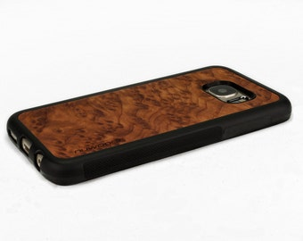 For Samsung Galaxy S7 Case Wood Redwood Burl, S7 Case Wood, S7 Wood Case, Galaxy S7 Edge Case Wood, S7 Edge Wood Case
