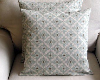 EVA RAIN light blue designer fabric Pillow Cover 18x18 20X20 22x22 24x24 26x26