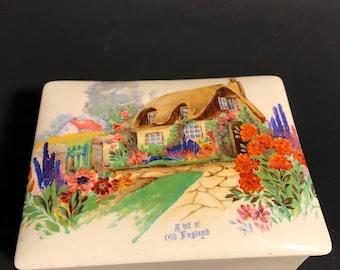 Vintage Empire Porcelain Company England Dresser Box/ Trinket Box