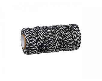 100 m spool Twine Baker's Twine Style black and white