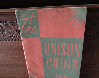 Unison Choir Sheet Music Book