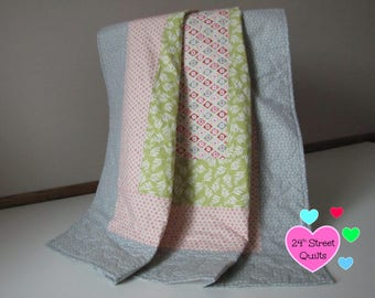 Baby Quilt, Baby Blanket, Crib Quilt   Pastel Square