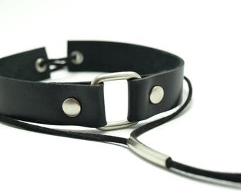 Handmade Genuine leather choker black leather chokers leather boho chokers style chokers unique gift ideas necklace Modern Accessories