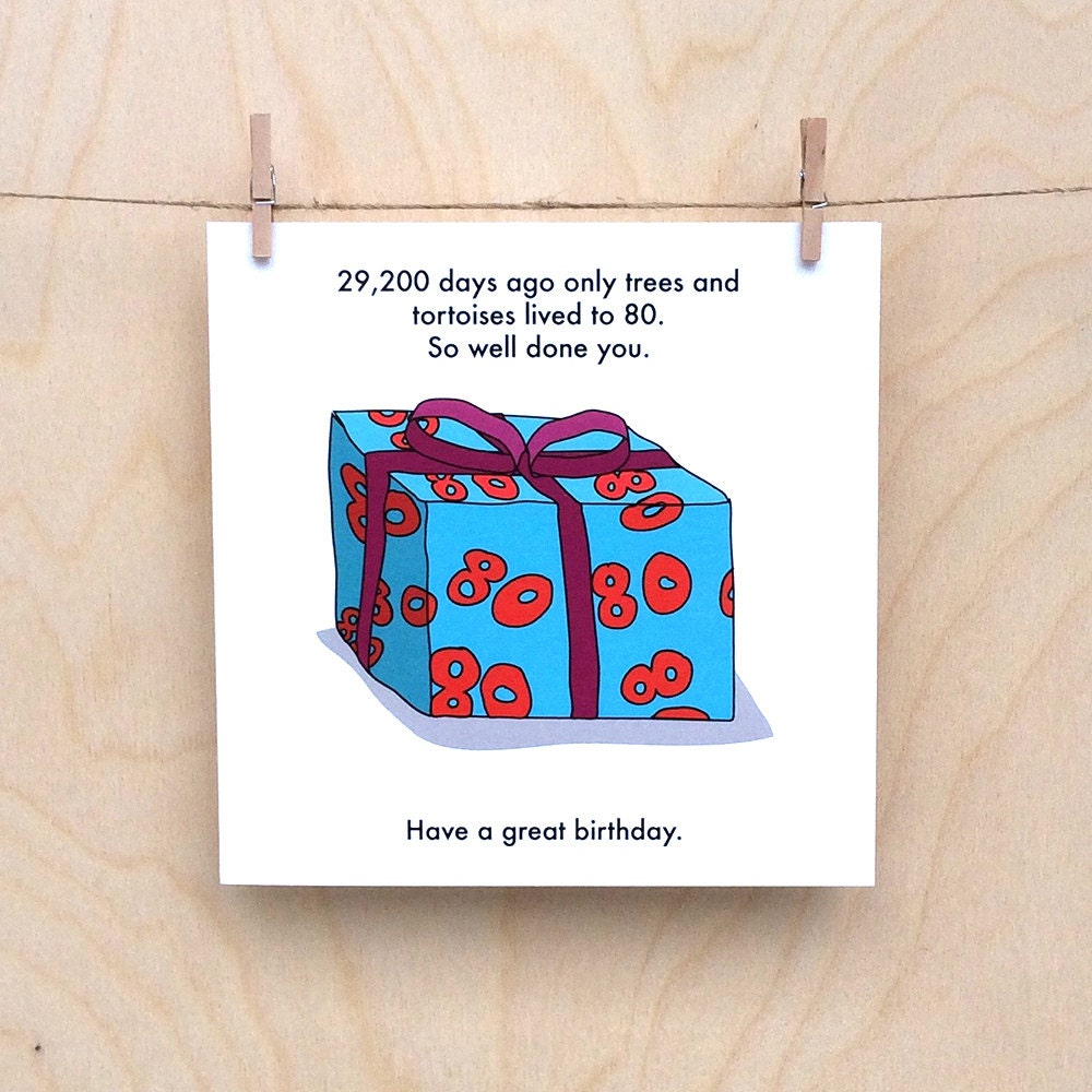 Funny 80th birthday card funny 80 card 80th birthday card bookmarktalkfo Image collections