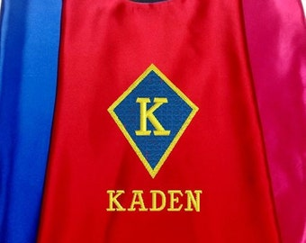 Kids Superhero Cape, Costume Cape, Embroidered Personalized Cape with Name and Initial