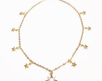 Star Struck Choker Charm Necklace