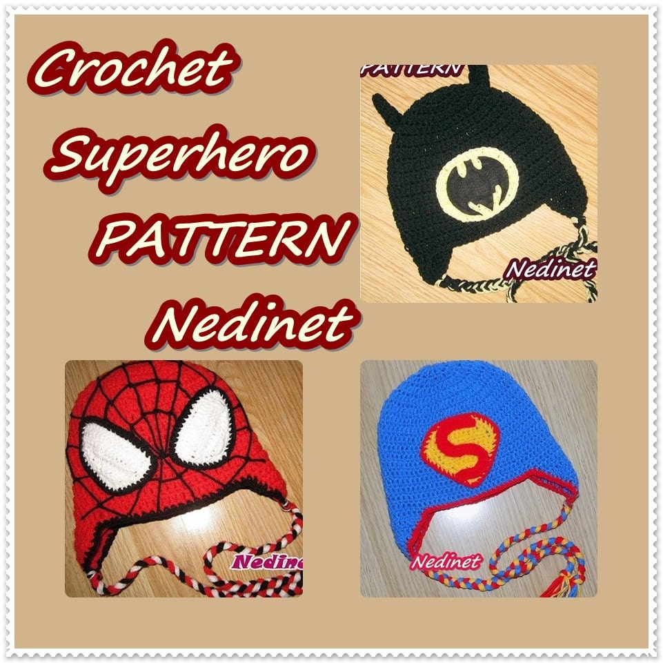 Crochet Superhero hat PATTERN, crochet hat pattern, diy tutorial ...