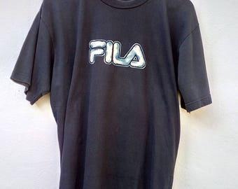 Vintage Fila Big Logo Spell Out Shirts