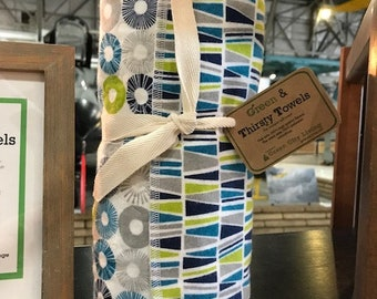 Green & Thirsty Unpaper Towels: Geometric