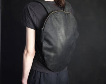 Leather backpack women backpack black leather backpack black leather rucksack laptop  backpack
