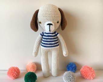 Crochet dog -crochet puppy - amigurumi toy dog - stuffed and plush toy dog - boys or girls crochet dog toy