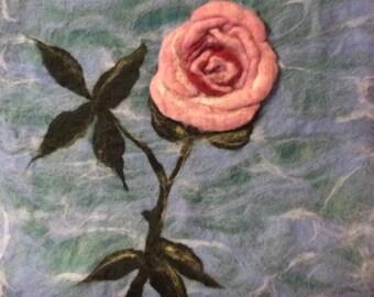 3 D Rose wetfelted