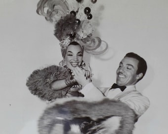 Carmen Miranda, Cesar Romano, Weekend in Havana, Original Photograph, Numbered, Promotional Press Release, Black White