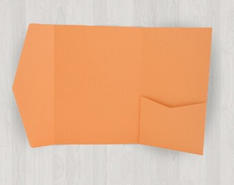 10 Large Vertical Pocket Enclosures - Oranges - DIY Invitations - Invitation Enclosures for Weddings and Other Events