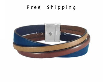 Mothers day gifts, Custom mens leather bracelet - Anniversary gifts -for him - Quality leather jewelry - Women cuff - Antique silver plated