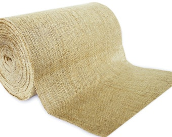 "No Fray 50 Yards - 14"" Premium Burlap Roll -- Eco-Friendly Natural Jute Burlap Fabric Table Runner Placemat Fabric"