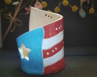 Puerto Rico's Flag Luminary, Lámpara de Vela Bandera de Puerto Rico
