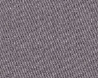 Fabric purple organic chambray