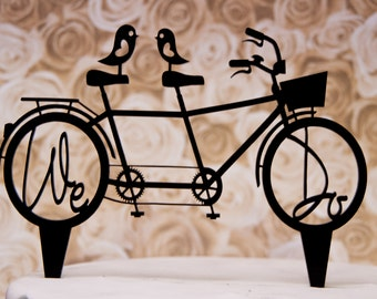 Bicycle for Two wedding cake topper with We Do in the wheels - We Do Bicyce for two cake topper - bike for two wedding cake topper
