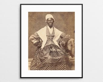 Sojourner Truth Vintage Photograph - African American Leaders - Abolitionist - Women's Rights Activist - Feminist Print - Black Women Art