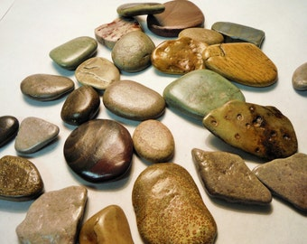 STONE PATHWAY River Rocks FAIRY Rocks - Fairy Gardens, Miniatures and Terrariums