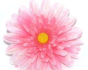 Pure Pink Gerbera Daisy - Artificial Flowers, Silk Flower Heads
