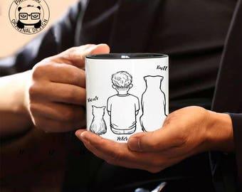 Personalized Mug, Dog Lover Gift, Dog Dad Mug, Gift For Dog Lover