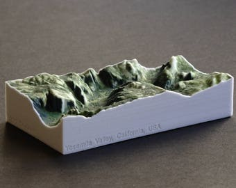 Yosemite Valley 3D Map 5 Full Color Gypsum Print