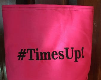Free Personalizing Machine Embroidered #TimesUp! tote