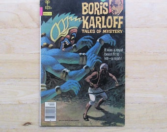 Boris Karloff Comic Book | Classic Horror Gift