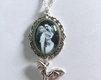 Dracula Inspired Cameo Necklace