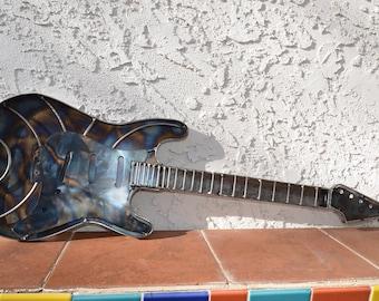Custom Metal Guitar Sculpture