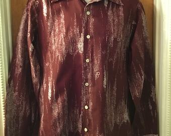 1970s men's polyester disco shirt