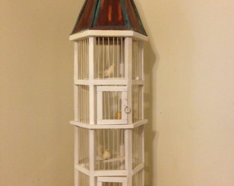 Vintage handmade custom townhouse live bird cage/ wedding decor