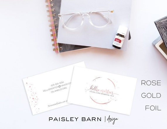 """Rose Gold Foil """"Oily"""" Business Cards 